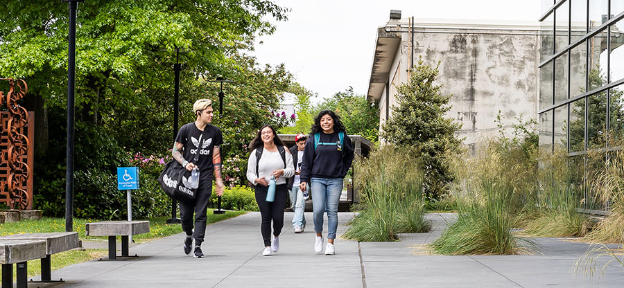 South Seattle students walking on campus