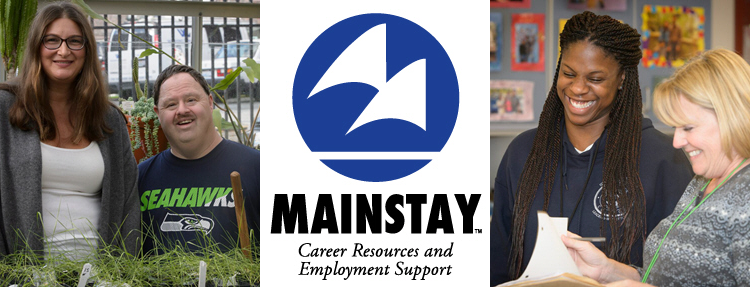 Mainstay logo and photos of clients